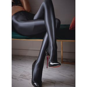 BOGO Hign End Shiny Oil Pantyhose - Cum Splash