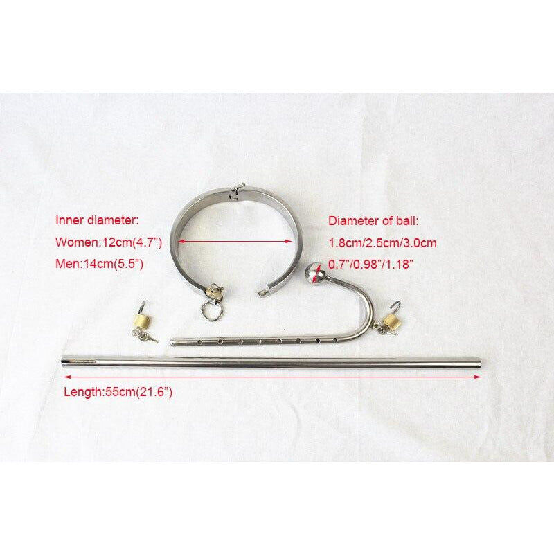 Stainless Steel Collars with Anal Hook - Cum Splash
