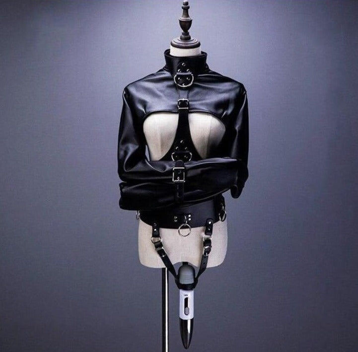 BDSM Bondage Outfit With Magic Wand Belt For Female
