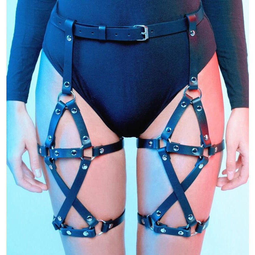 Stardust Leg Harness - Cum Splash