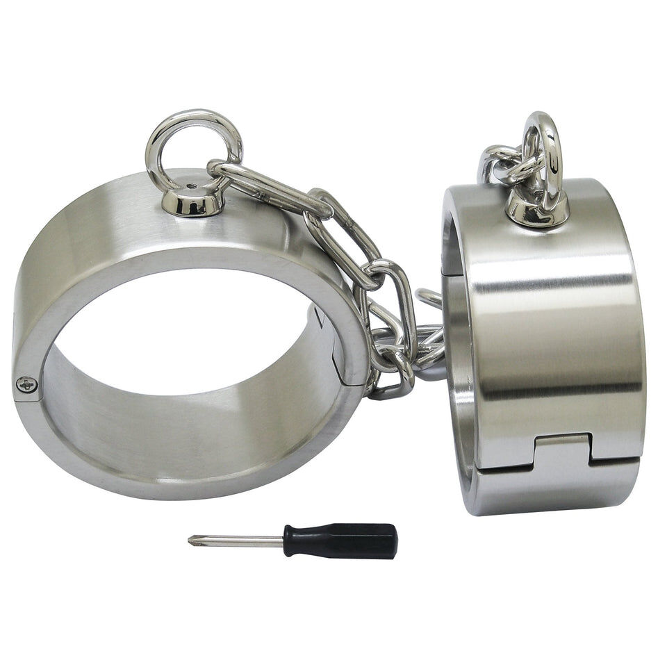 Lockable Heavy Stainless Steel Cuffs