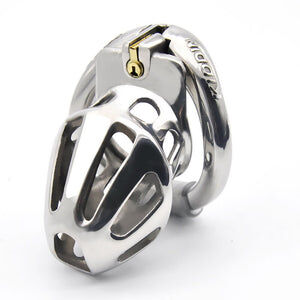 Premium Breathable Design Metal Chastity Cage - Cum Splash