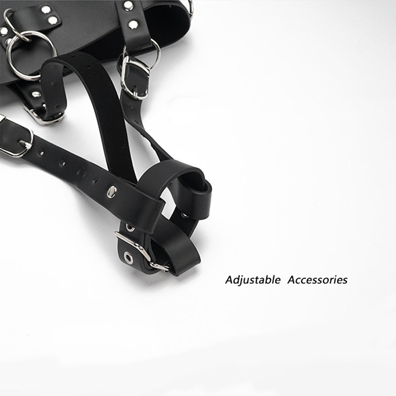 BDSM Bondage Outfit With Magic Wand Belt For Female - Cum Splash