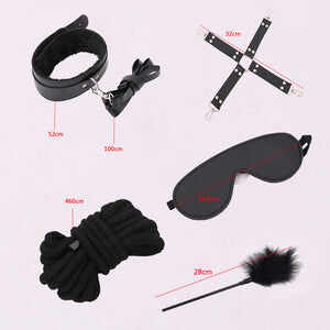 Bondage & Domination - 10 Piece BDSM Bondage Set - Cum Splash