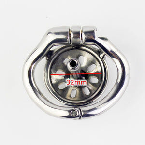 NEW Super Small Chastity Cage With Urethral Catheter Stainless Steel Male Chastity Devices Sex Toys For Men Penis Lock Cock Ring - Cum Splash