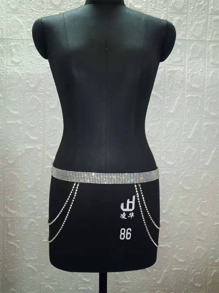 Women's Crystal Rhinestone Waist Belt Chain